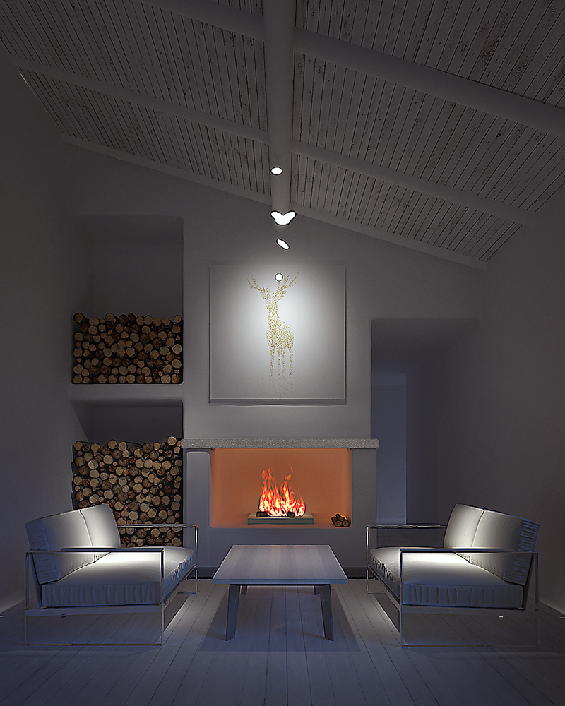 Nordic interior scene